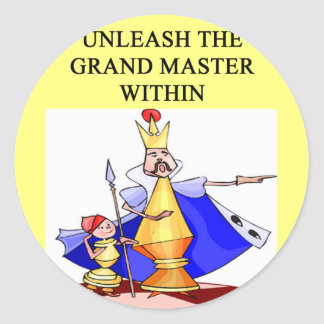 CHESS player grand master Round Sticker