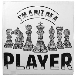 Chess Player Napkin