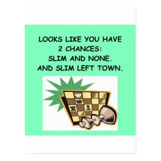 chess player postcard