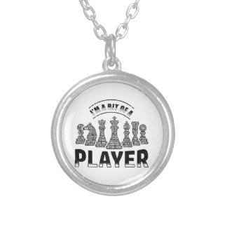 Chess Player Silver Plated Necklace