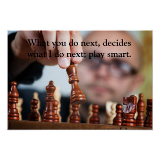 Chess Player - Value Poster Paper (Matte)