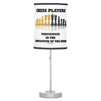 Chess Players Participate Hopscotch Mind Chess Set Table Lamp