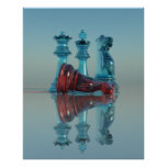 Chess Poster / Print - King Queen Knight Chess