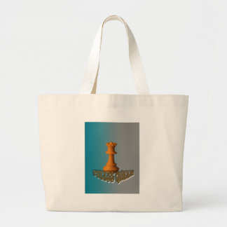 Chess queen large tote bag