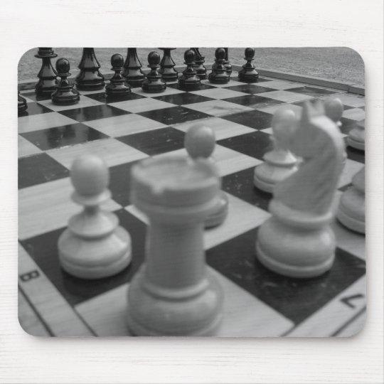 Chess set B&W Mouse Pad