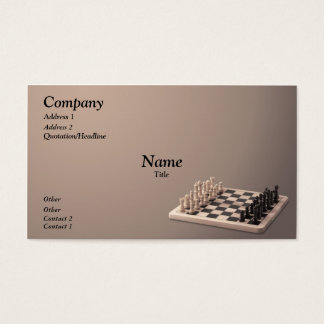 Chess Set Business Card