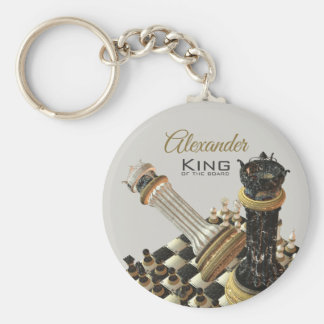 Chess Set King Of The Board Keychain