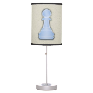 Chess Shiny Blue Glass Chess Pawn Table Lamps