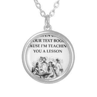 chess silver plated necklace