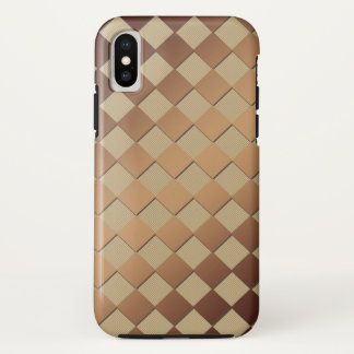 Chess Square Golden Brown Case-Mate iPhone Case