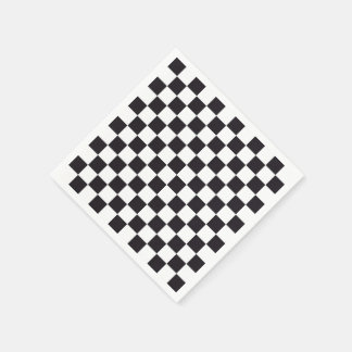 Chess Square Pattern - black + your background Disposable Napkins