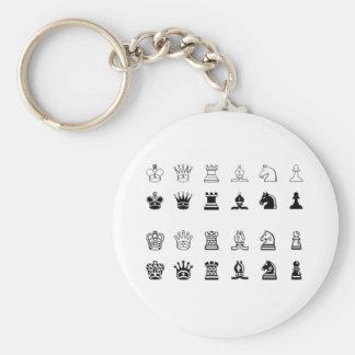 Chess symbols keychain