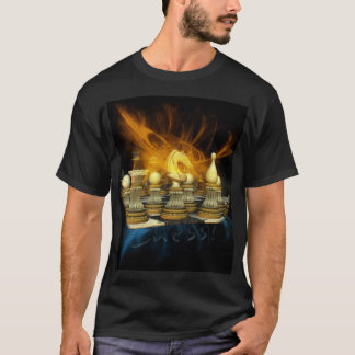 Chess T Shirt With Knight And Flashes