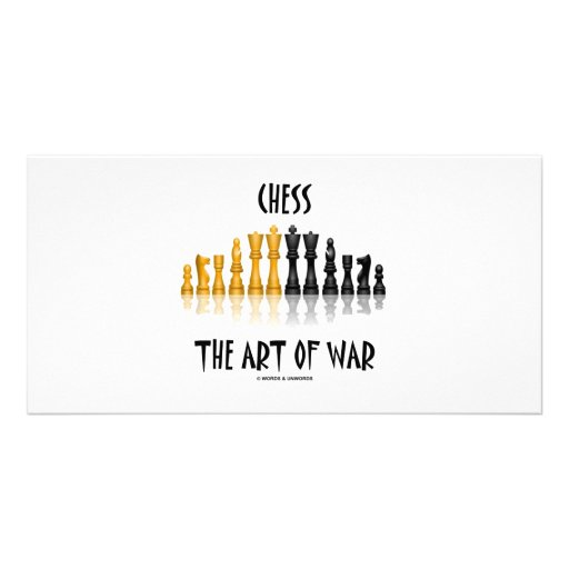 Chess The Art Of War (Matisse Font) Photo Greeting Card