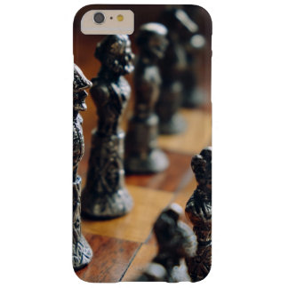 Chess Themed, Antique Vintage Chessman Set In Wood Barely There iPhone 6 Plus Case