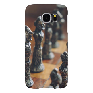 Chess Themed, Antique Vintage Chessman Set In Wood Samsung Galaxy S6 Cases