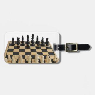 chessboard design luggage tag