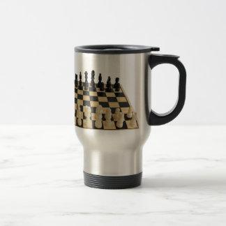 chessboard design travel mug