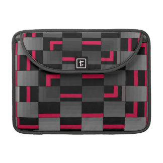 Chessboard Neon Red City Urban Design Sleeve For MacBook Pro