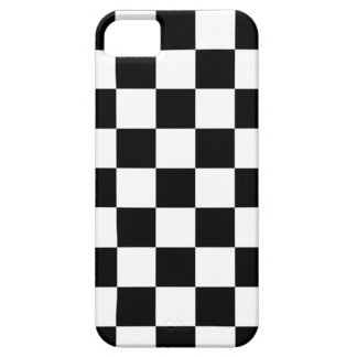 chessboard pattern black and white case for the iPhone 5