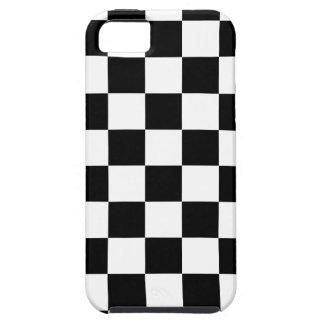 chessboard pattern black and white iPhone 5 cover