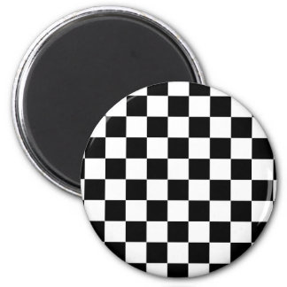 chessboard pattern black and white magnet