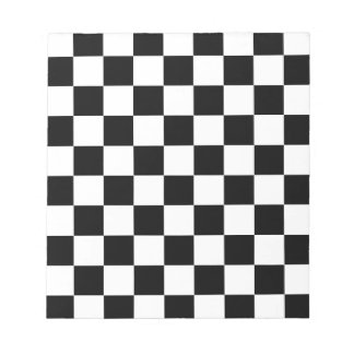 chessboard pattern black and white notepad