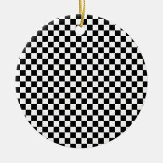 Chessboard sample ceramic ornament