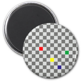 Chessboard sample chess board pattern 2 inch round magnet
