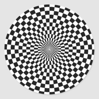 Chessboard sample classic round sticker