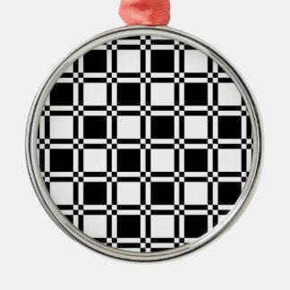 Chessboard sample metal ornament