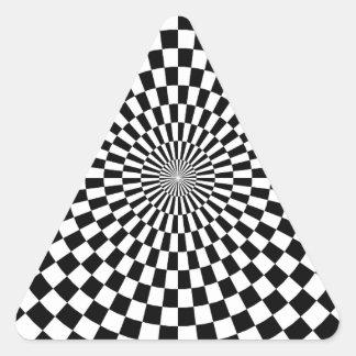 Chessboard sample triangle sticker