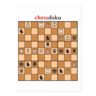 chessdoku postcard