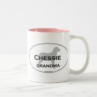 Chessie Grandma Two-Tone Coffee Mug