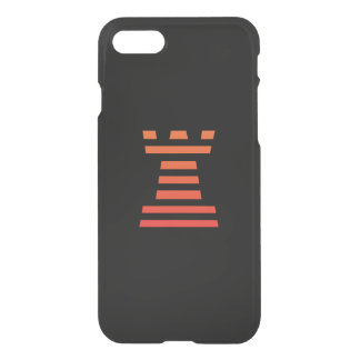 ChessME Black iPhone 7 Clearly™ Deflector Rook iPhone 8/7 Case