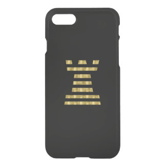 ChessME Faux Gold iPhone 7 Clearly™ Deflector Rook iPhone 8/7 Case