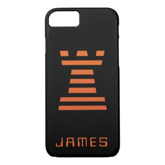 ChessME iPhone Add Name Black Orange Case-Mate iPhone Case