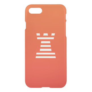 ChessME Orange iPhone 7 Clearly™ Deflector Case
