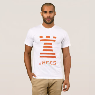 ChessME! White Inverse Add Name T-Shirt
