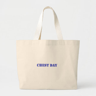 chest day blue canvas bags