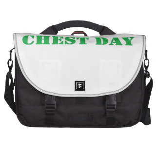 chest day green computer bag