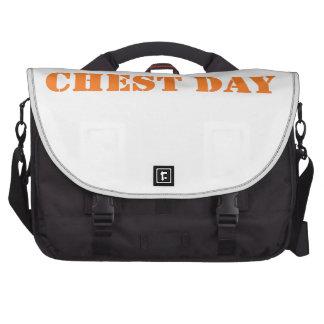 chest day orange laptop commuter bag