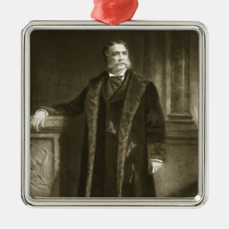 Chester A. Arthur, 21st President of the United St Silver-Colored Square Ornament