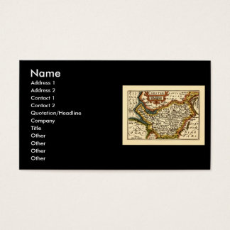 """""""Chester"""" Cheshire, County Map, England Business Card"""