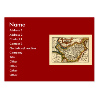 """""""Chester"""" Cheshire, County Map, England Large Business Card"""