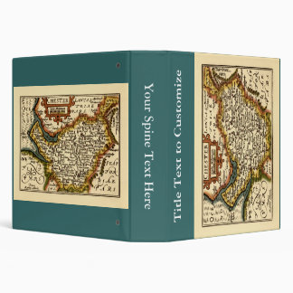 """""""Chester"""" Cheshire, County Map, England Vinyl Binder"""