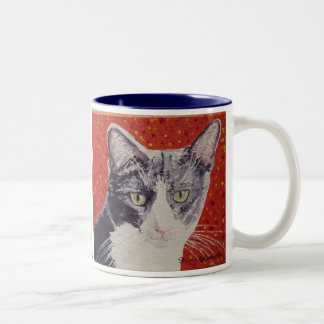 Chester Face Painting Two-Tone Coffee Mug