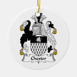 Chester Family Crest Ceramic Ornament