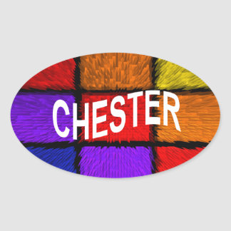 CHESTER OVAL STICKER