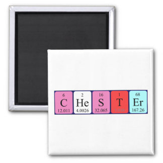 Chester periodic table name magnet